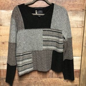 Eddie Bauer patchwork Sweater